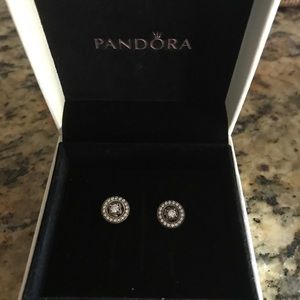 Pandora sterling silver earrings (never been worn)